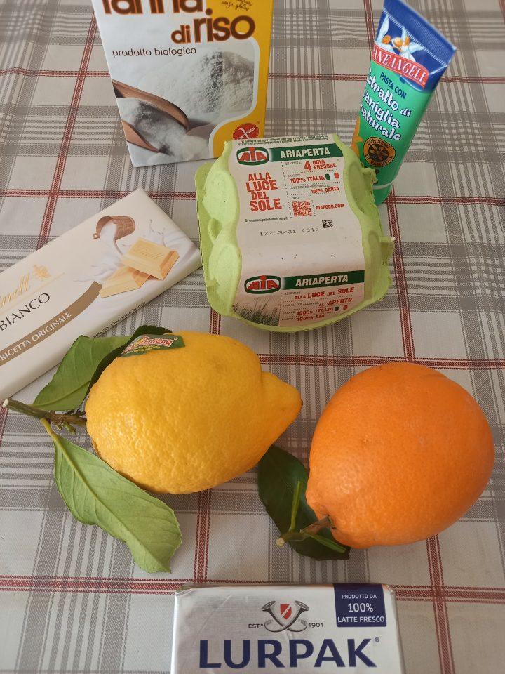 Ingredienti tortini agli agrumi con cuore morbido
