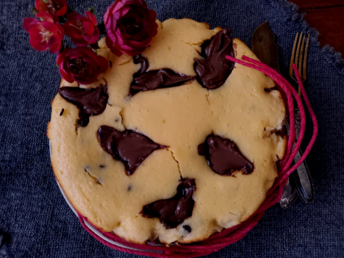 Cremosina ricotta Nutella e gocce di cioccolato