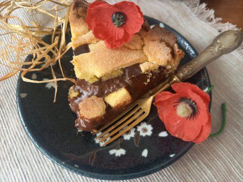 Crostata con crema morbida al cioccolato