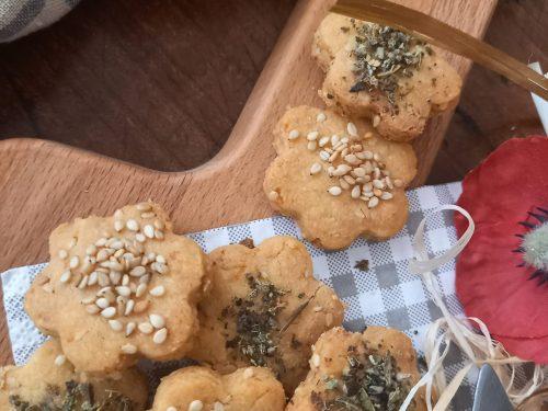 Cracker al pecorino e grana con semi di sesamo