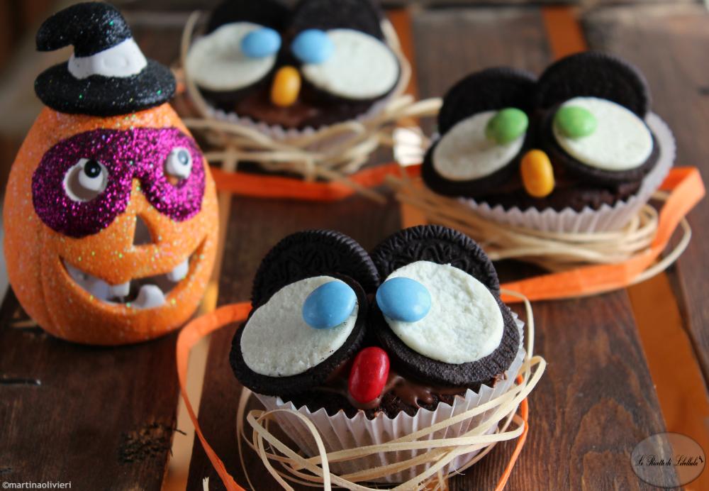 halloween muffin con gufetti le ricette di libellula. Black Bedroom Furniture Sets. Home Design Ideas