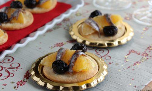 Tartine arancia e olive