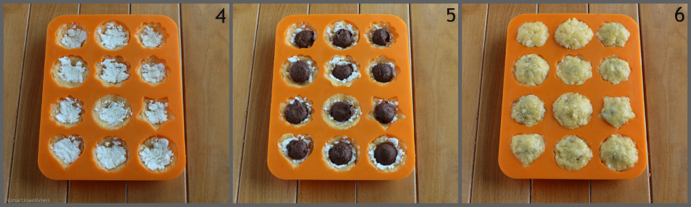 preparazione tortine ricotta