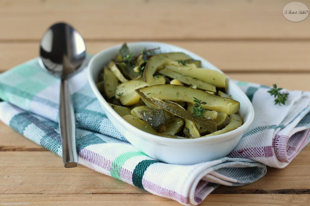 Zucchine al limone ed erbe aromatiche