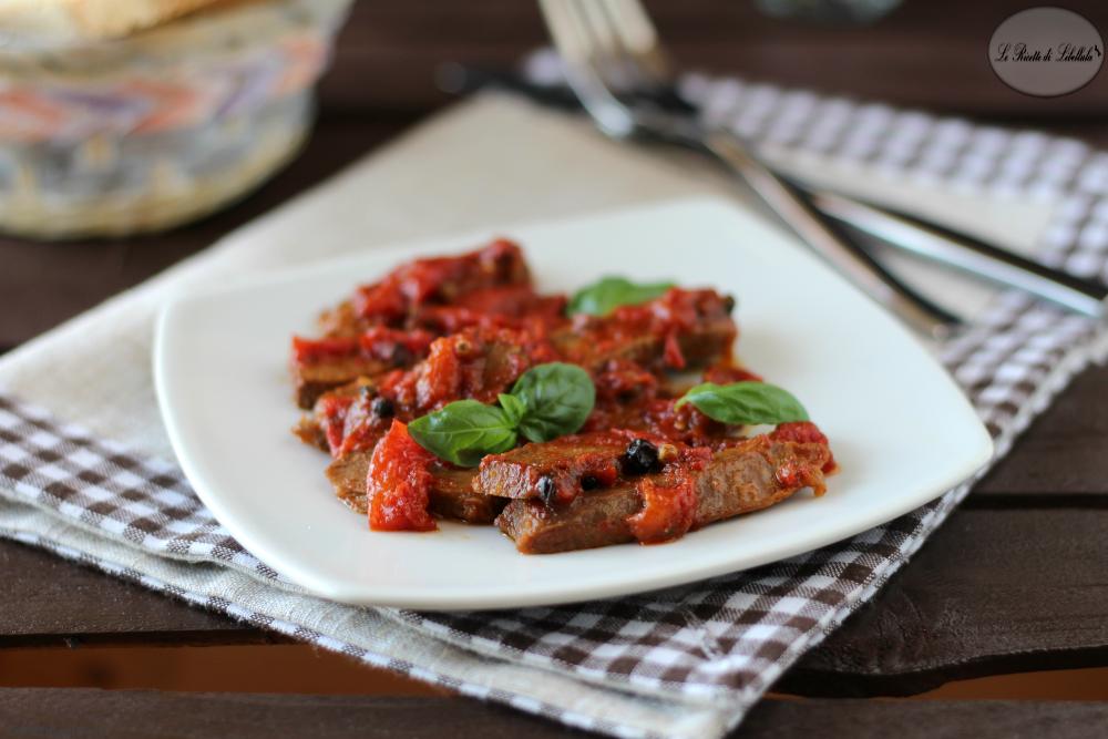 Straccetti di manzo con pomodorini