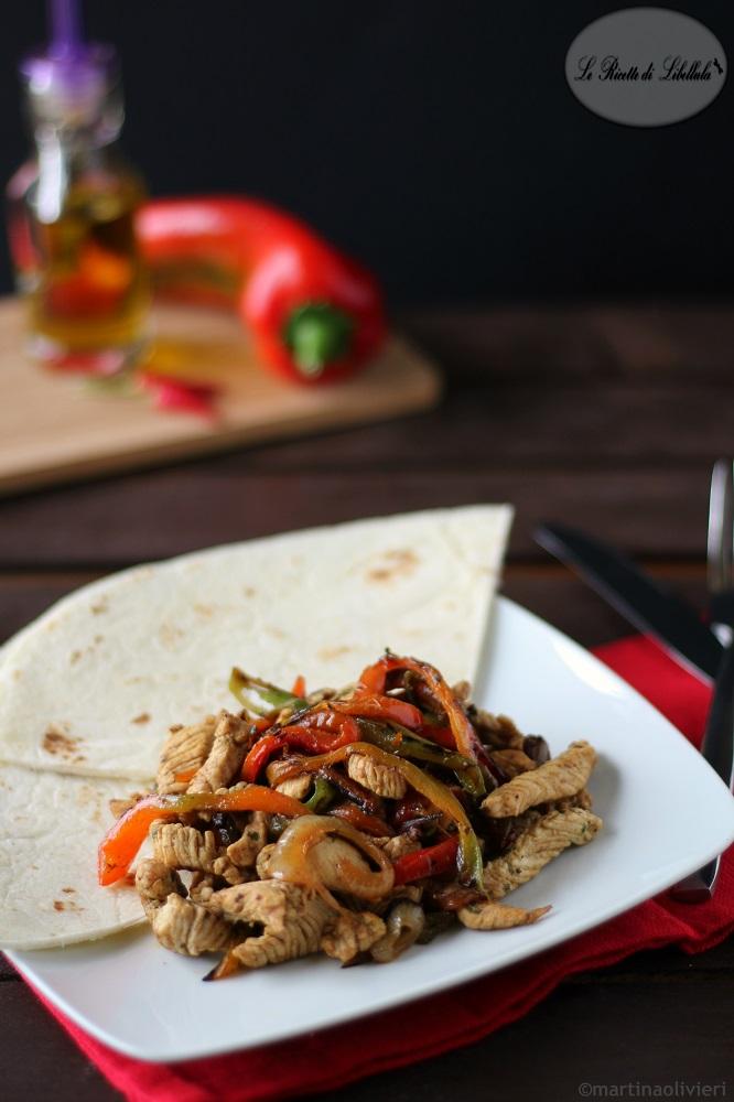 Fajitas di tacchino - Cucina tex mex | Le Ricette di Libellula