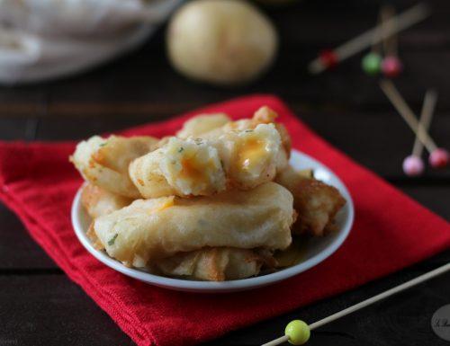 Involtini di pasta fillo con patate e formaggio