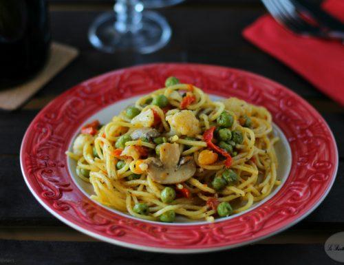 Spaghetti alla chitarra con ragù di verdure