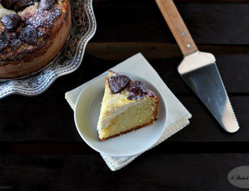 Torta con crema di ricotta e gianduiotti