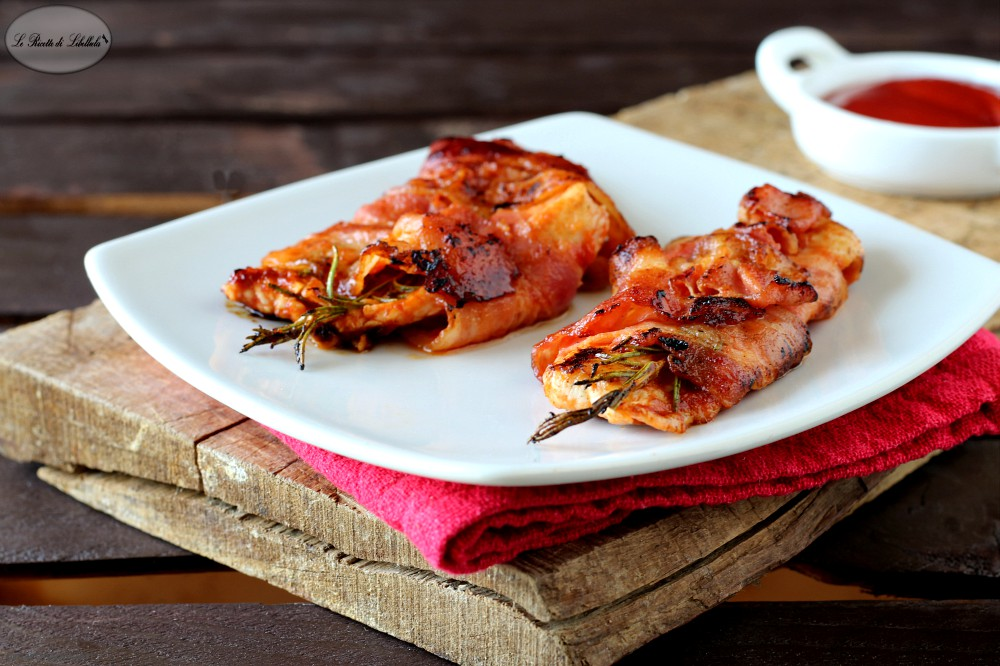 Pollo in crosta di bacon