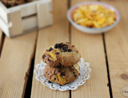Biscotti con gocce di cioccolato con esubero di lievito madre