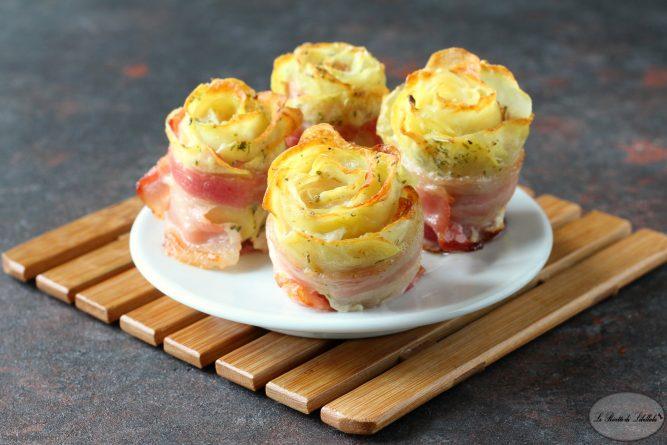 Rose di patate e bacon