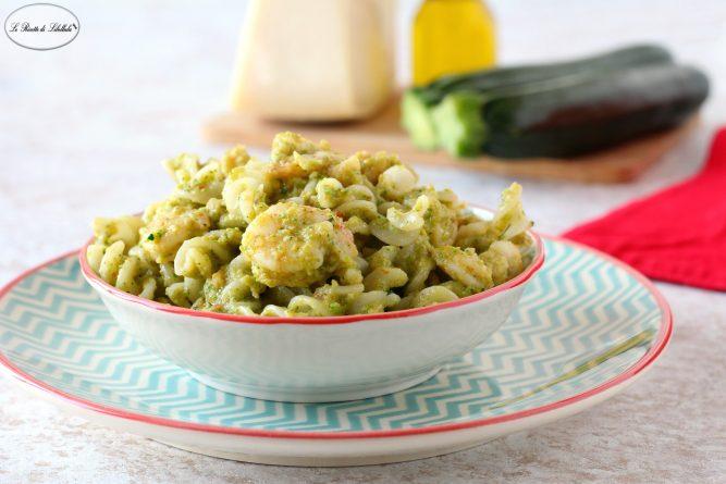 Pasta Cremosa con Zucchine e Gamberetti