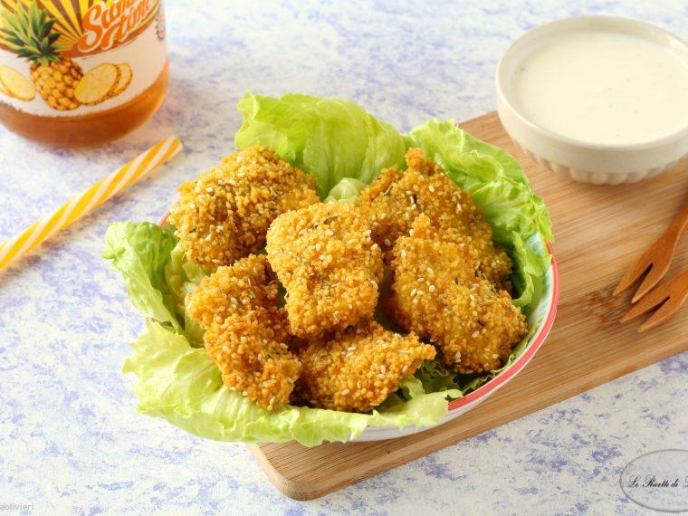 Bocconcini di pollo in crosta di cous cous