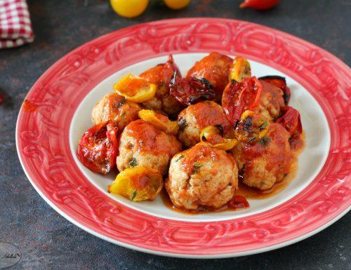 Polpette in agrodolce con pomodorini caramellati