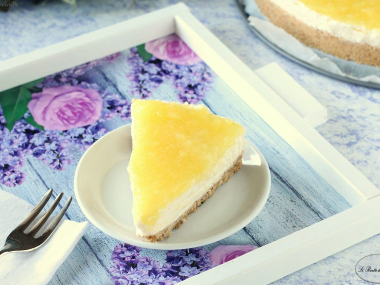 Cheesecake all'ananas e cocco