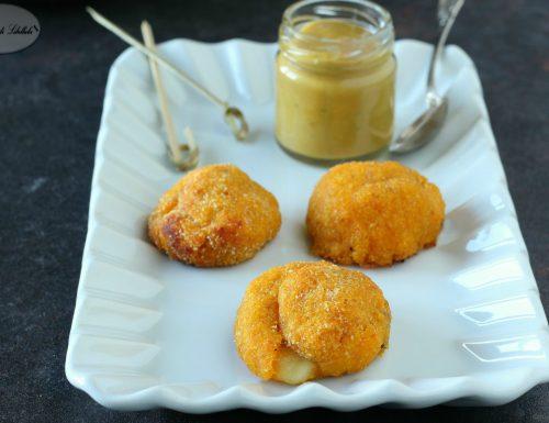 Polpette di zucca con salsa alla senape e miele