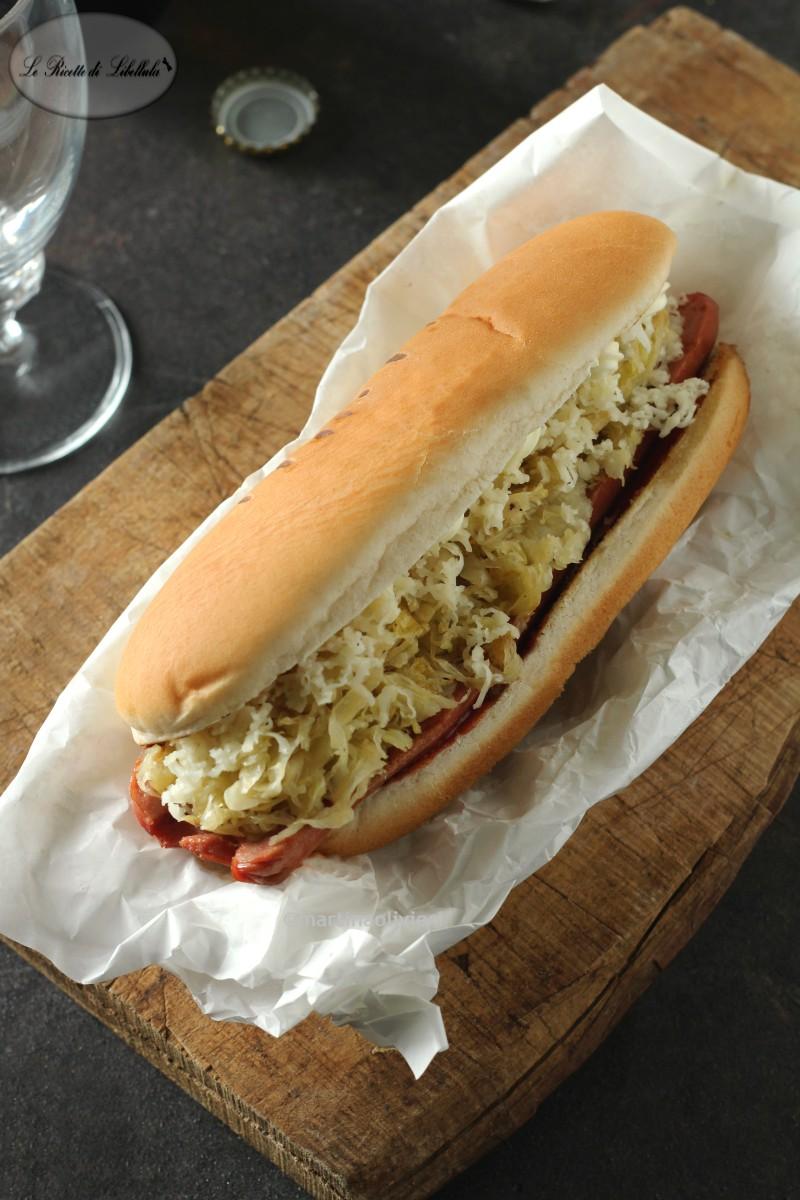 Hot dog con crauti