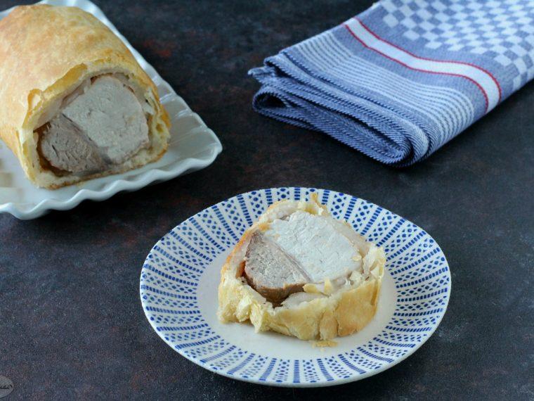 Arista in crosta di lardo e pasta sfoglia