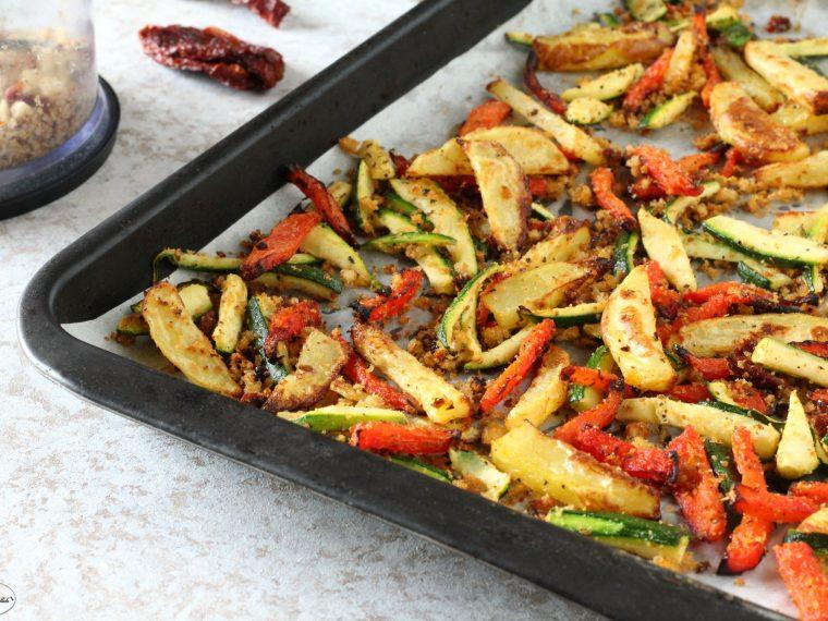 Verdure e patate sabbiose al forno