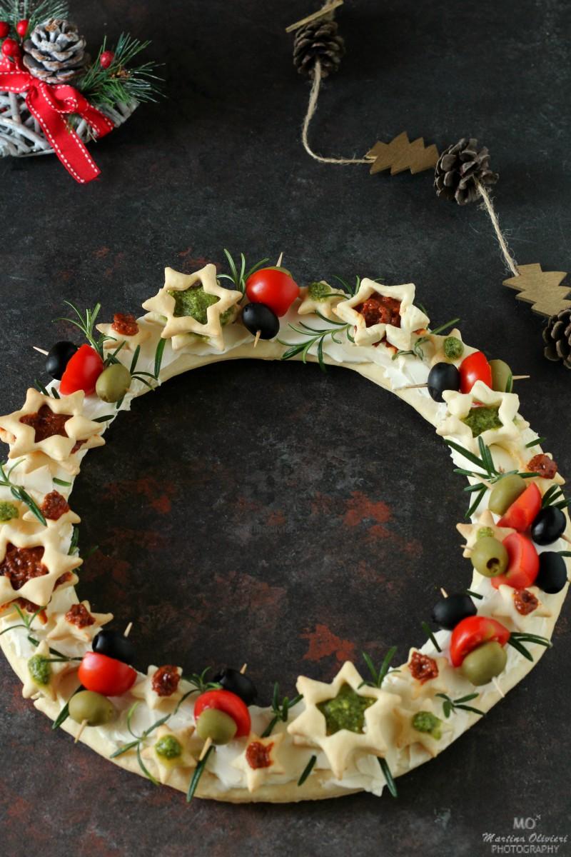 Ghirlanda salata di pasta brisée