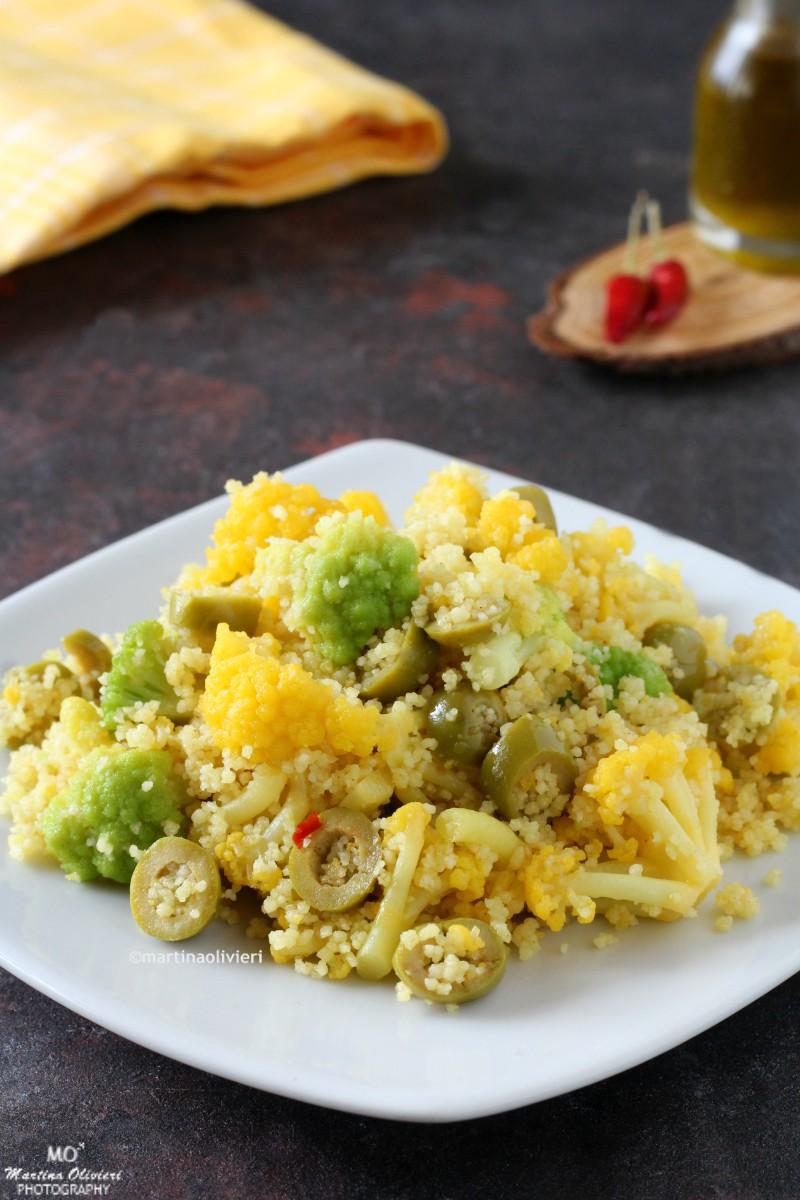Cous cous con broccoli e olive