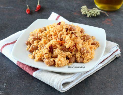 Cous cous con fagioli e peperoni secchi