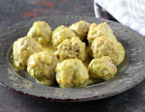 Polpette con salsa al curry e mango