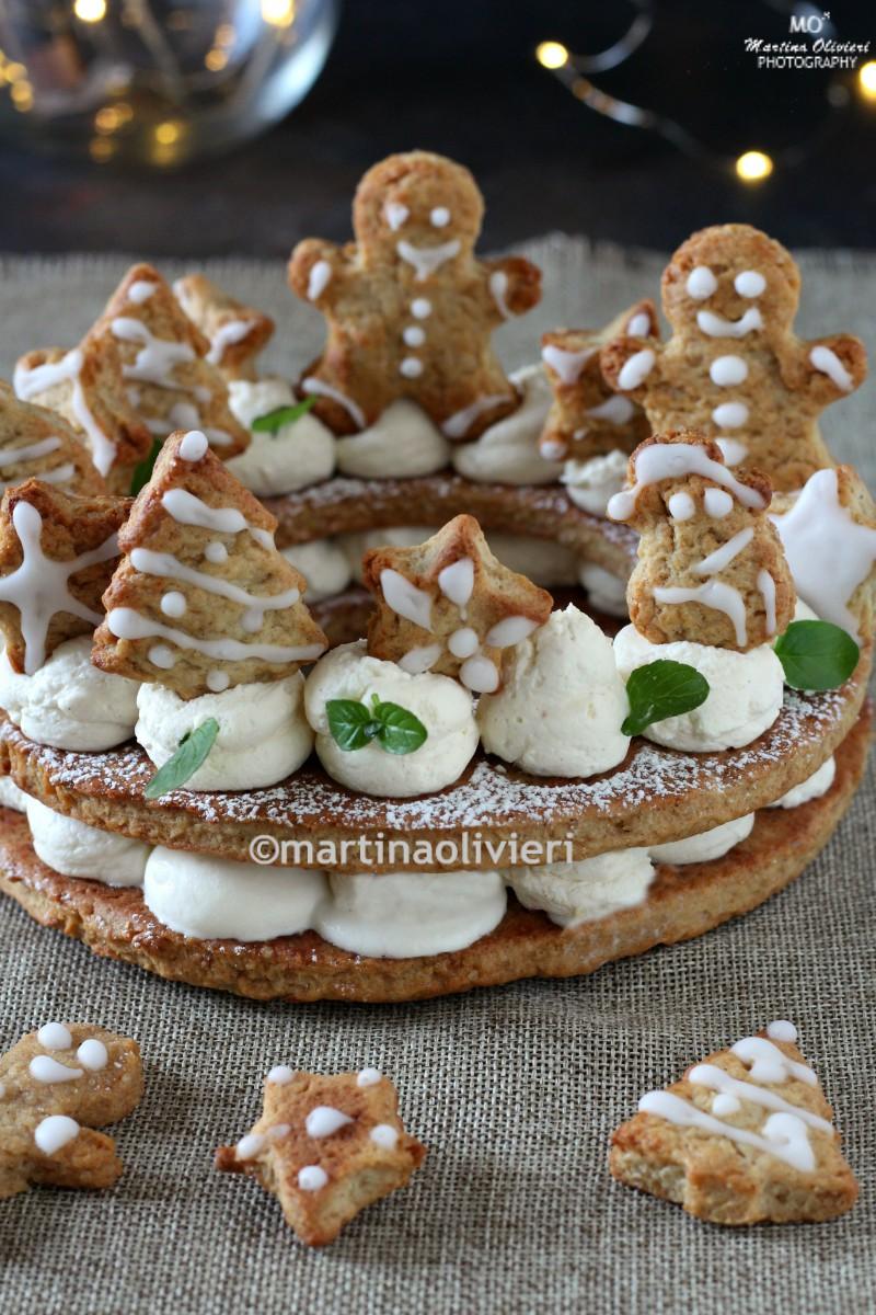 Gingerbread cream tart - Cream tart natalizia