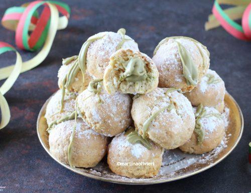 Castagnole al pistacchio – Al forno o friggitrice ad aria calda