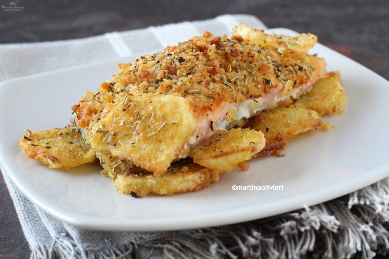 Salmone gratinato con patate