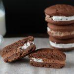 Biscotto gelato panna e cioccolato