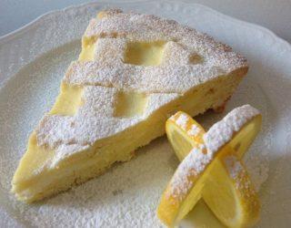 Crostata al limone, fresca e delicata