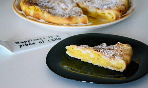 Crostata veloce con crema e mele