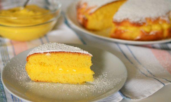 Torta al limone e crema pasticcera