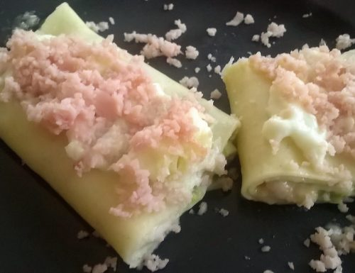 Cannelloni con asparagi e prosciutto
