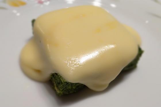 Spinaci al forno con fonduta