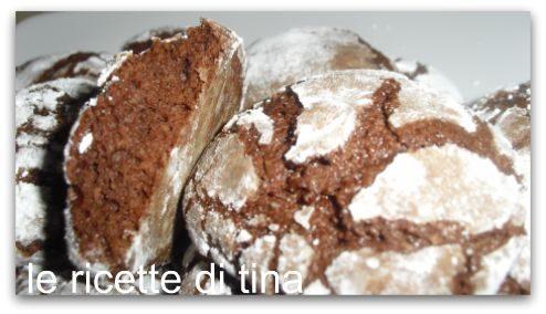 Chocolate crinckles al cocco