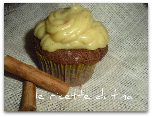Cupcake con crema alla cannella