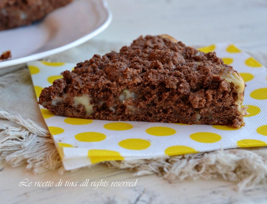Torta croccantina al cioccolato bianco