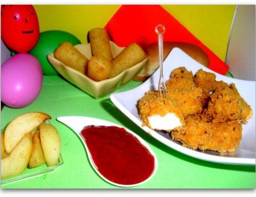 Pollo con i Corn flackes e salsa finto Ketckup