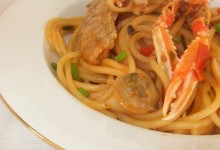 Spaghetti con fantasia di mare
