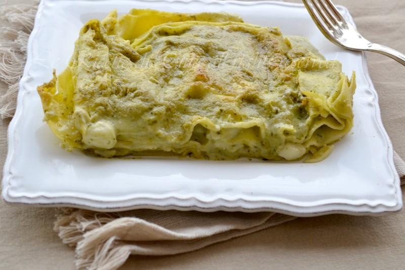 lasagne al pesto,lasagne,lasagne con besciamella,lasagne in bianco,le ricette di tina,lasagne veloci,