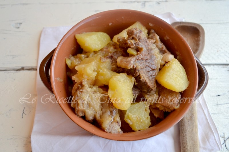 spezzatino,spezzatino con patate,le ricette di tina,
