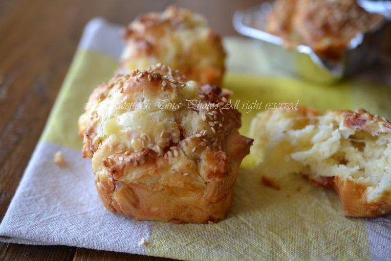 muffin salame e formaggio,muffin salati,muffin,muffin al salame,le ricette di tina,