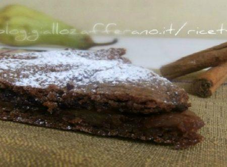 Crostata al cacao pere e cioccolato