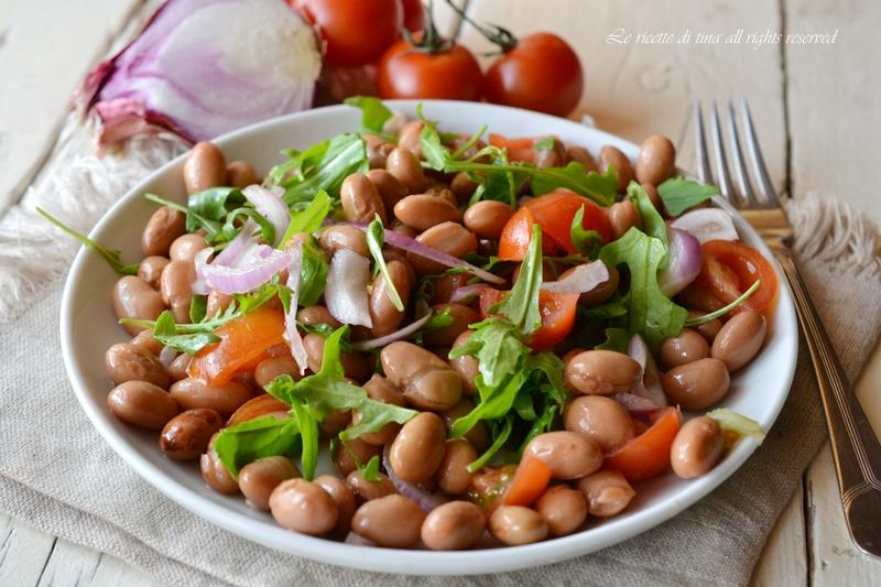 insalata di fagioli,insalata fredda,le ricette di tina