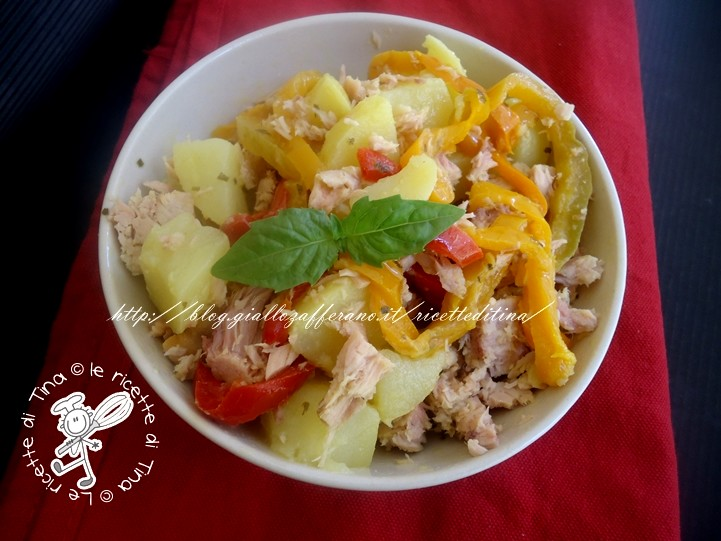 insalata di patate e peperoni
