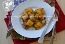 Seppioline con le patate e piselli