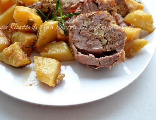 Agnello ripieno con patate